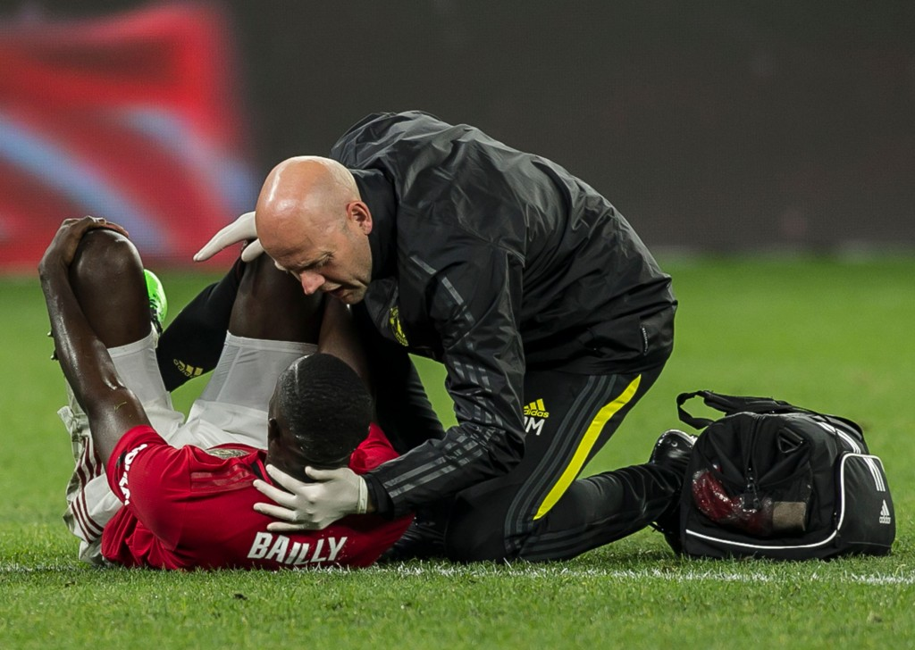 Bailly is currently serving time on the sidelines due to his latest injury. (Photo by Tony Ashby/AFP/Getty Images)