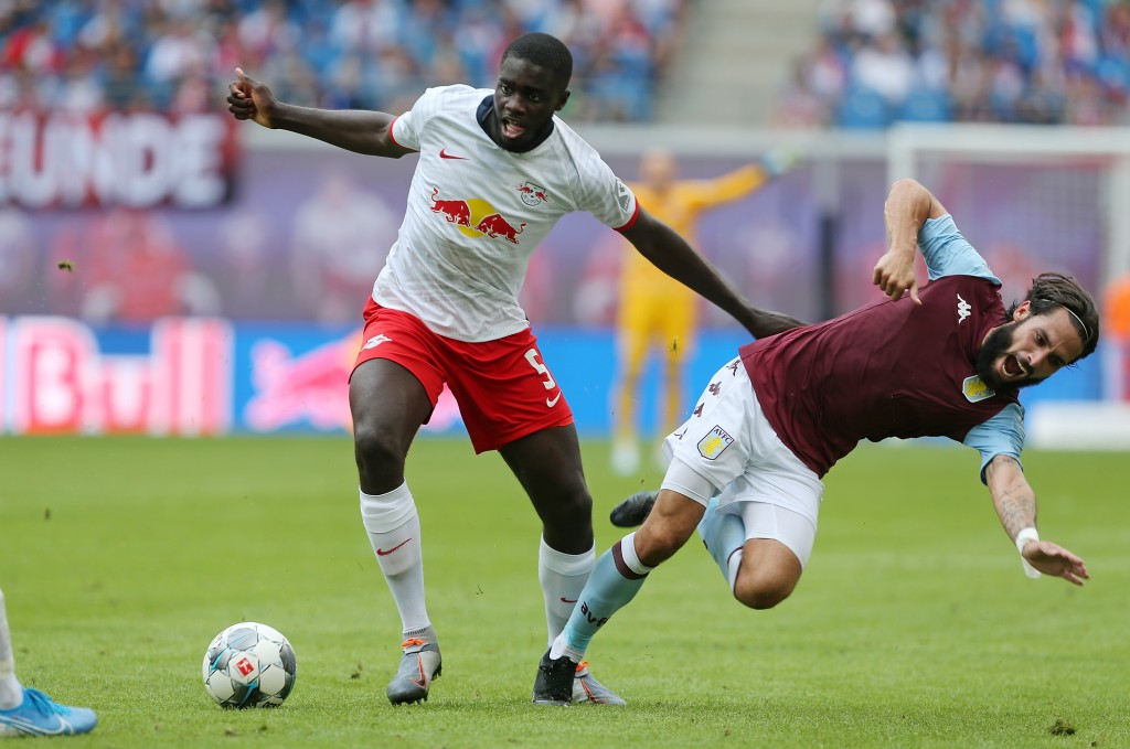 RB Leipzig have turned down Arsenal's bid for Upamecano. (Photo by Matthias Kern/Bongarts/Getty Images)