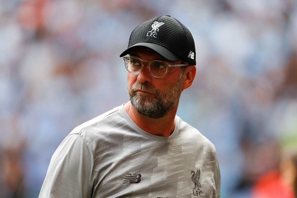 Liverpool's German manager Jurgen Klopp arrives for the English FA Community Shield football match between Manchester City and Liverpool at Wembley Stadium in north London on August 4, 2019. (Photo by Adrian DENNIS / AFP) / NOT FOR MARKETING OR ADVERTISING USE / RESTRICTED TO EDITORIAL USE (Photo credit should read ADRIAN DENNIS/AFP/Getty Images)