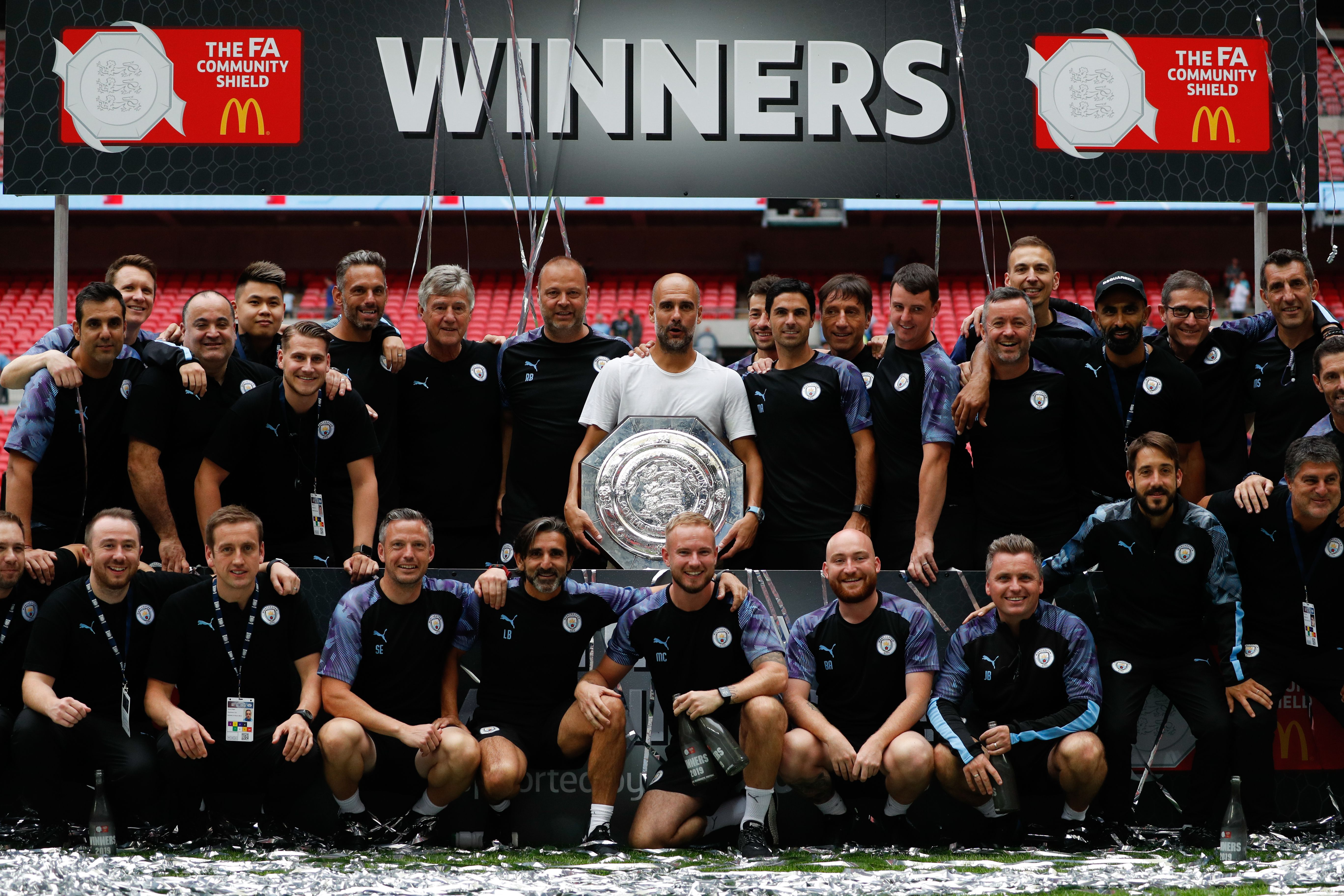 Winning is just part of the routine by now for Manchester City players under Pep Guardiola. (Picture Courtesy - AFP/Getty Images)