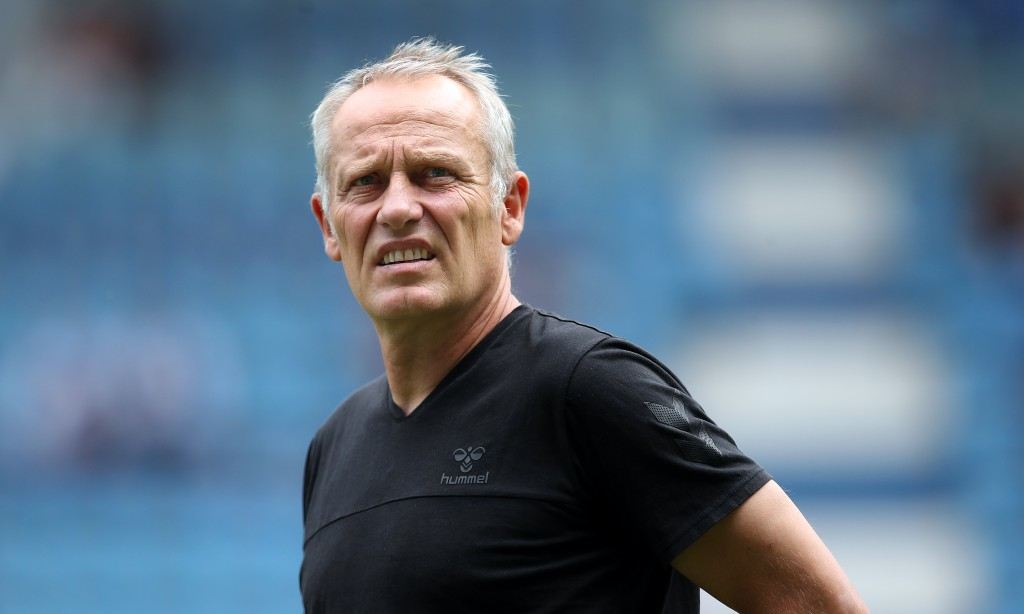 Christian Streich does not have any fresh injury concerns to deal with ahead of the visit of Bayer Leverkusen. (Photo by Ronny Hartmann/Bongarts/Getty Images)