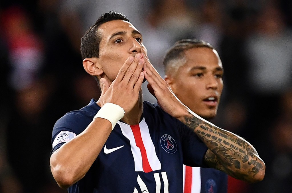 PSG will need Angel Di Maria to be at his best against Rennes. (Photo by FRANCK FIFE / AFP)