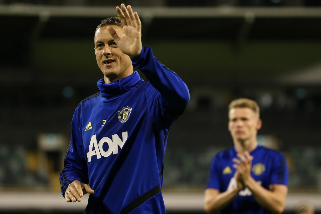 PERTH, AUSTRALIA - JULY 11: Nemanja Matic of Manchester United waves to fans at the conclusion of a Manchester United training session at the WACA on July 11, 2019 in Perth, Australia. (Photo by Paul Kane/Getty Images)