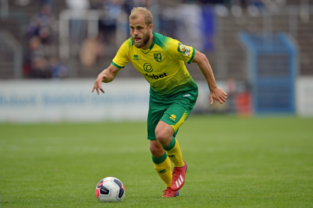 Could Pukki be the thorn in Liverpool's side on Friday? (Photo by Thomas F. Starke/Bongarts/Getty Images)