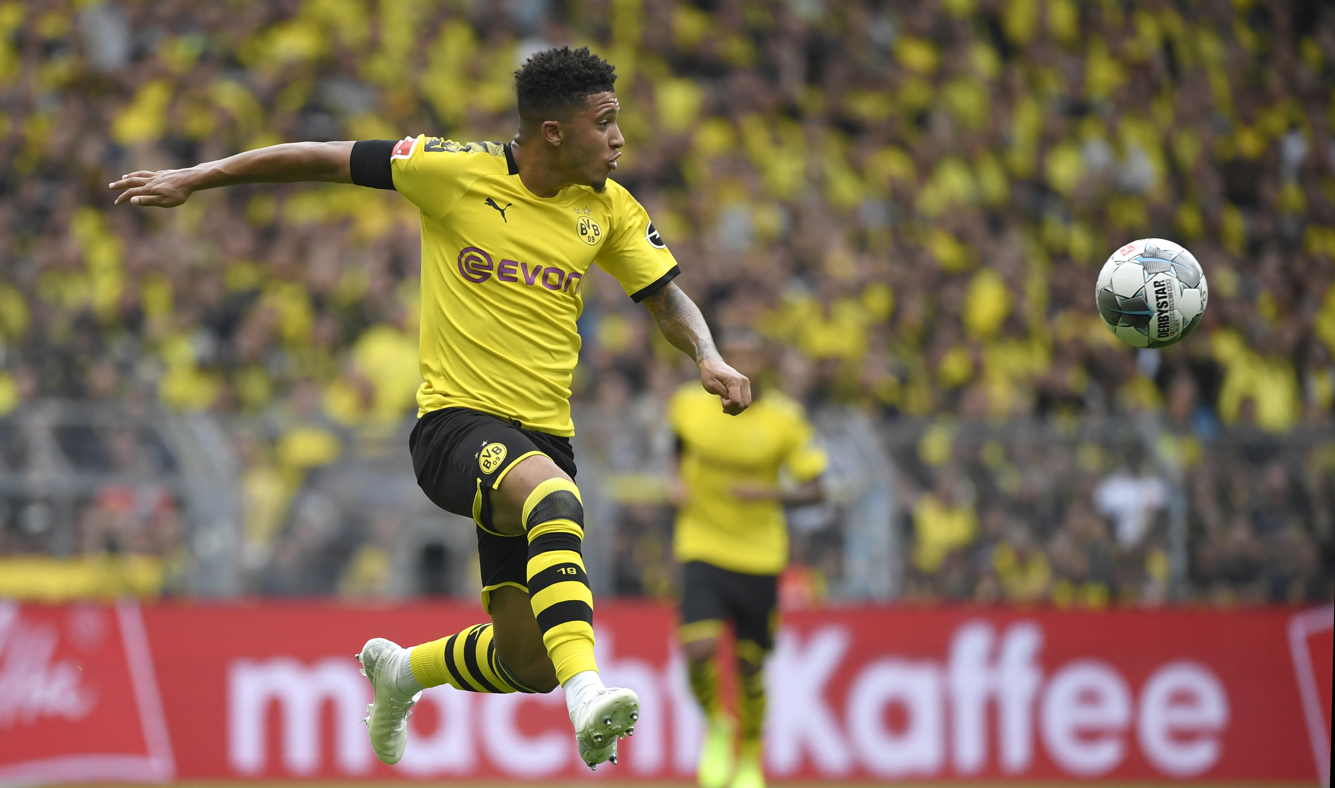 Sancho has enjoyed a spectacular rise to stardom at Borussia Dortmund (Photo by INA FASSBENDER/AFP/Getty Images)