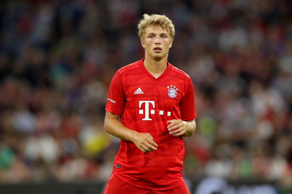 MUNICH, GERMANY - JULY 31: Fiete Arp of Muenchen looks on during the Audi Cup 2019 final match between Tottenham Hotspur and Bayern Muenchen at Allianz Arena on July 31, 2019 in Munich, Germany. (Photo by Alexander Hassenstein/Getty Images for AUDI)