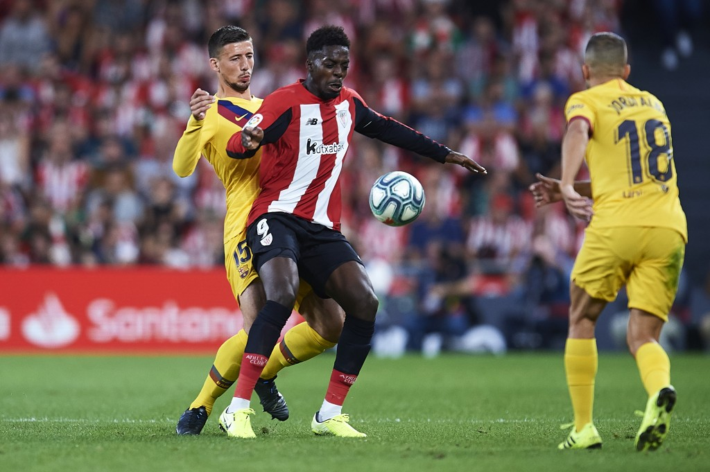 Lenglet was solid, but there is room for improvement. (Photo by Juan Manuel Serrano Arce/Getty Images)