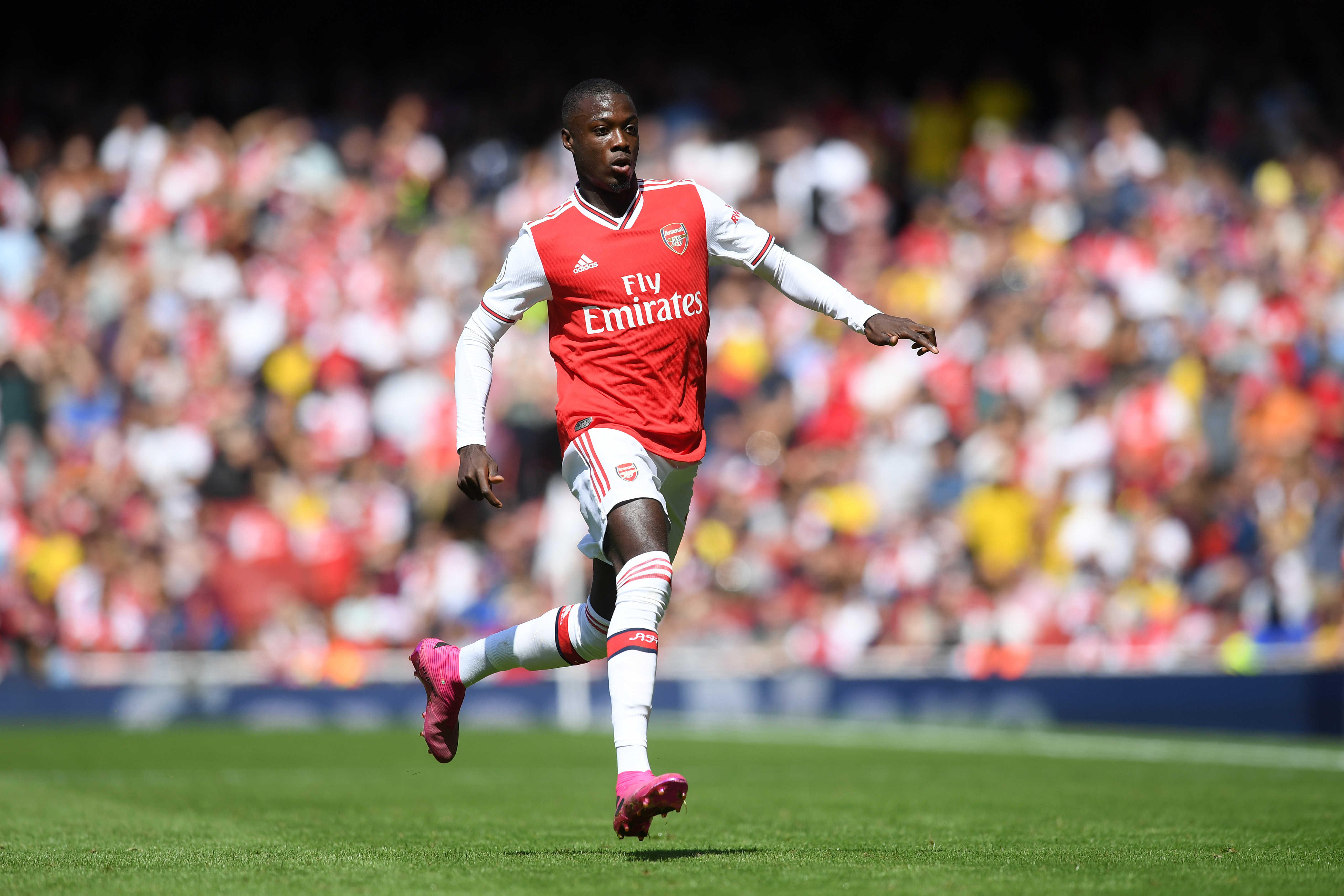 Will Nicolas Pepe shine in his first North London Derby? (Photo courtesy: AFP/Getty)