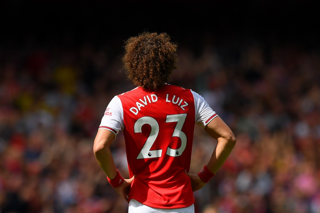 David Luiz is fit and in contention to start for Arsenal against West Ham United. (Photo by Michael Regan/Getty Images)