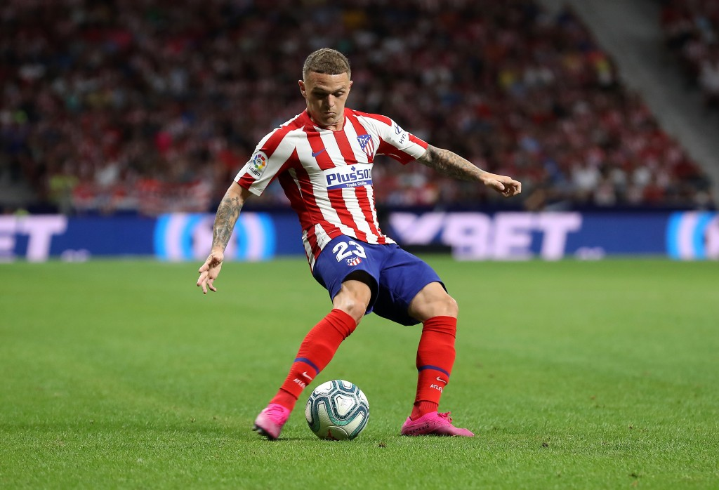 MADRID, SPAIN - AUGUST 18: Kieran Trippier of Atletico Madrid in action during the Liga match between Club Atletico de Madrid and Getafe CF at Wanda Metropolitano on August 18, 2019 in Madrid, Spain. (Photo by Angel Martinez/Getty Images)