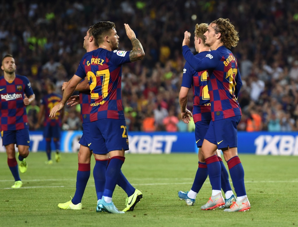 Perez and Griezmann scripted the Barcelona comeback tale. (Photo by Alex Caparros/Getty Images)