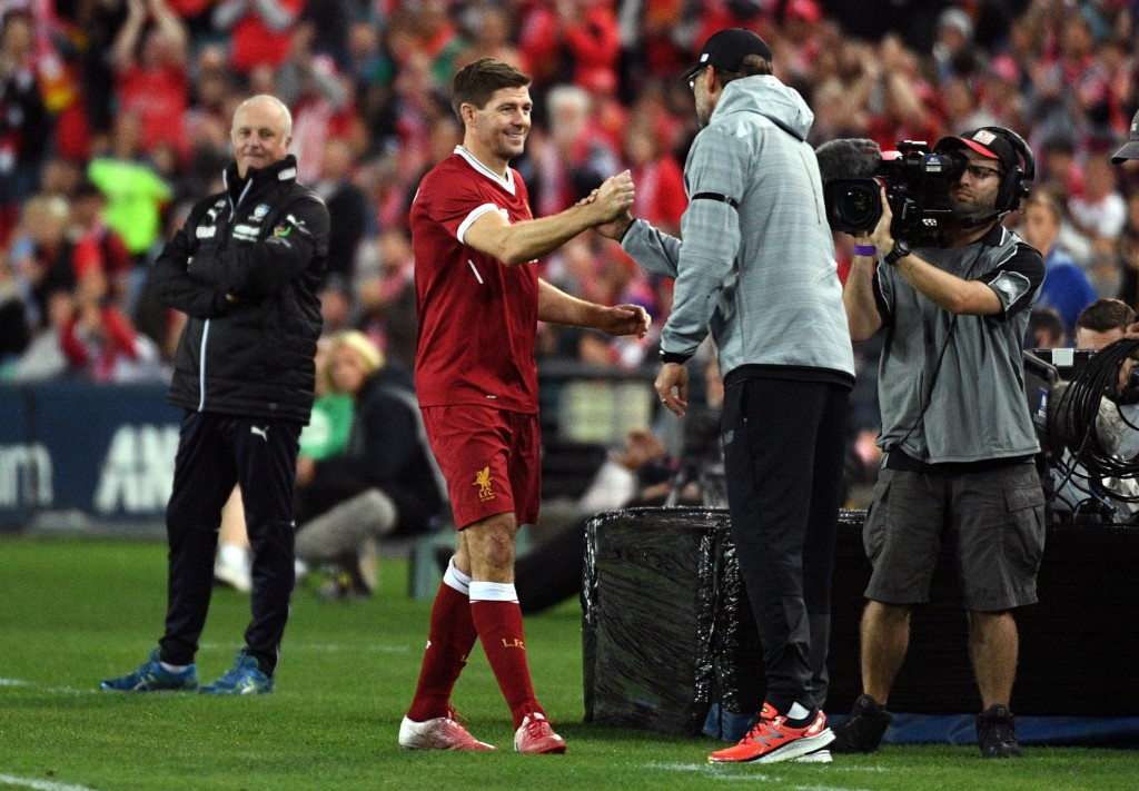 Gerrard tipped to replace Klopp at Liverpool (Photo by WILLIAM WEST/AFP/Getty Images)