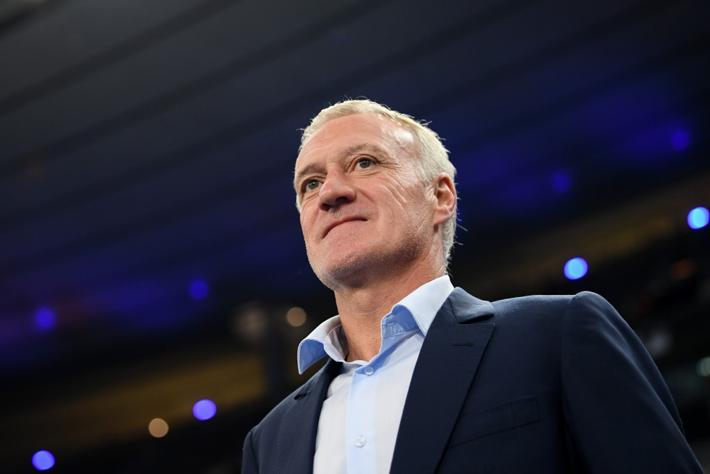PARIS, FRANCE - OCTOBER 16: Didier Deschamps, Manager of France looks on prior to the UEFA Nations League A group one match between France and Germany at Stade de France on October 16, 2018 in Paris, France. (Photo by Matthias Hangst/Bongarts/Getty Images)