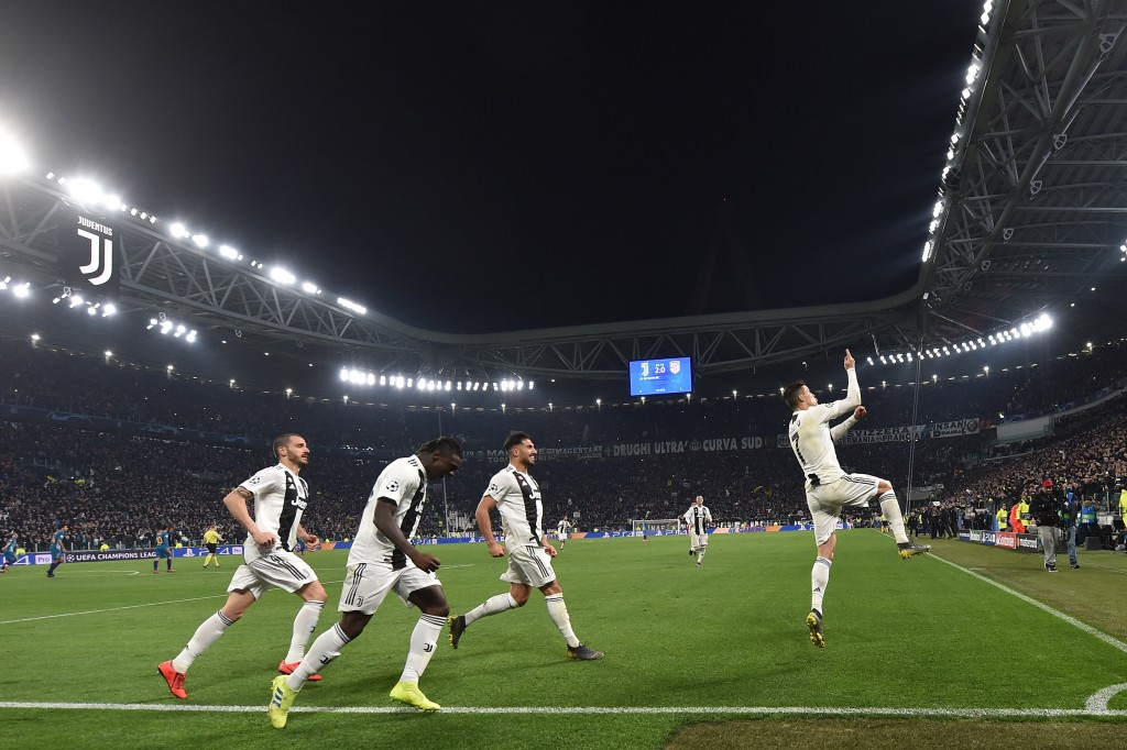 A Cristiano Ronaldo hat-trick condemned Atletico Madrid to a Round of 16 exit at the hands of Juventus last season. (Photo by Tullio M. Puglia/Getty Images)