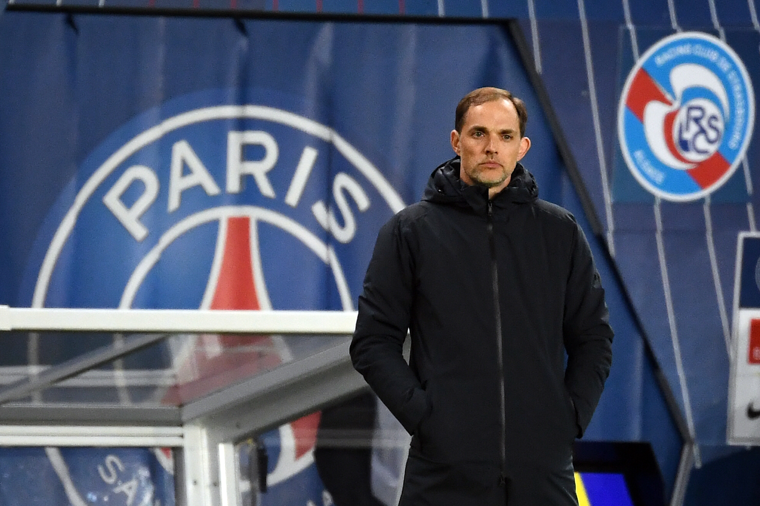 Paris Saint-Germain's German coach Thomas Tuchel has worked with Dembele at Dortmund (Photo credit should read FRANCK FIFE/AFP/Getty Images)