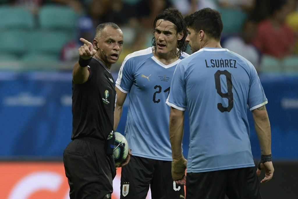 Cavani and Suarez are ruled for Uruguay (Photo by Juan Mabromata/AFP/Getty Images)