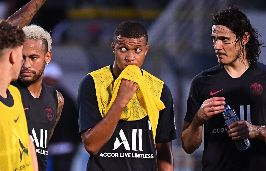 No Neymar, Mbappe and Cavani for PSG (Photo by FRANCK FIFE/AFP/Getty Images)