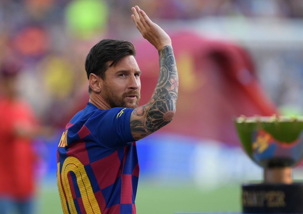 Messi's Barcelona future is uncertain. (Photo by Josep Lago/AFP/Getty Images)