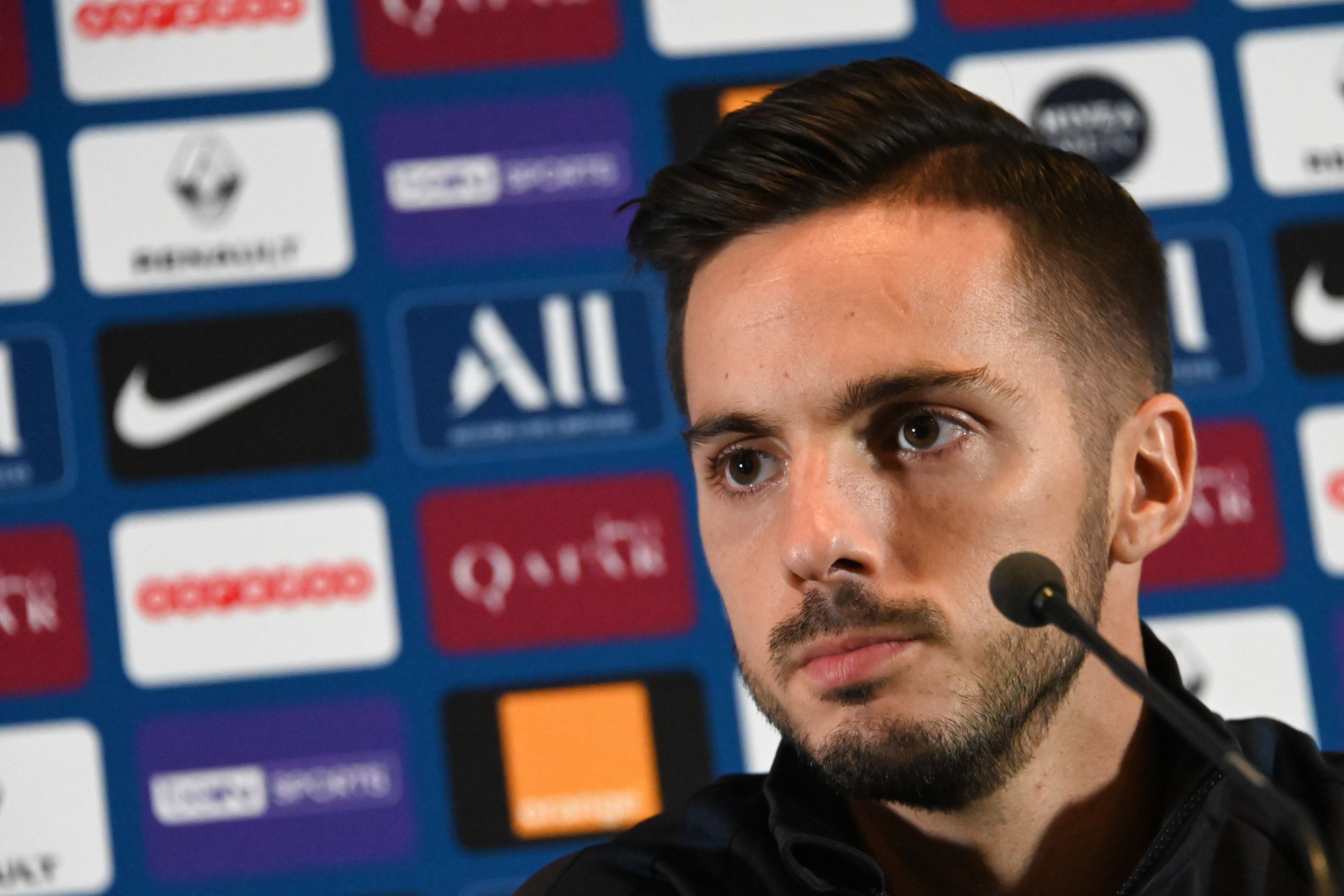 Pablo Sarabia set to miss out for Spain. (Photo by Dominique Faget/AFP/Getty Images)