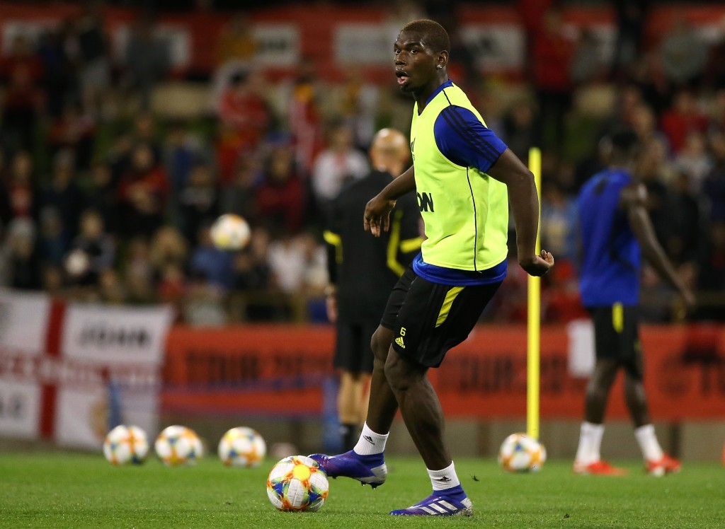 Pogba could feature against Rochdale. (Photo by Paul Kane/Getty Images)