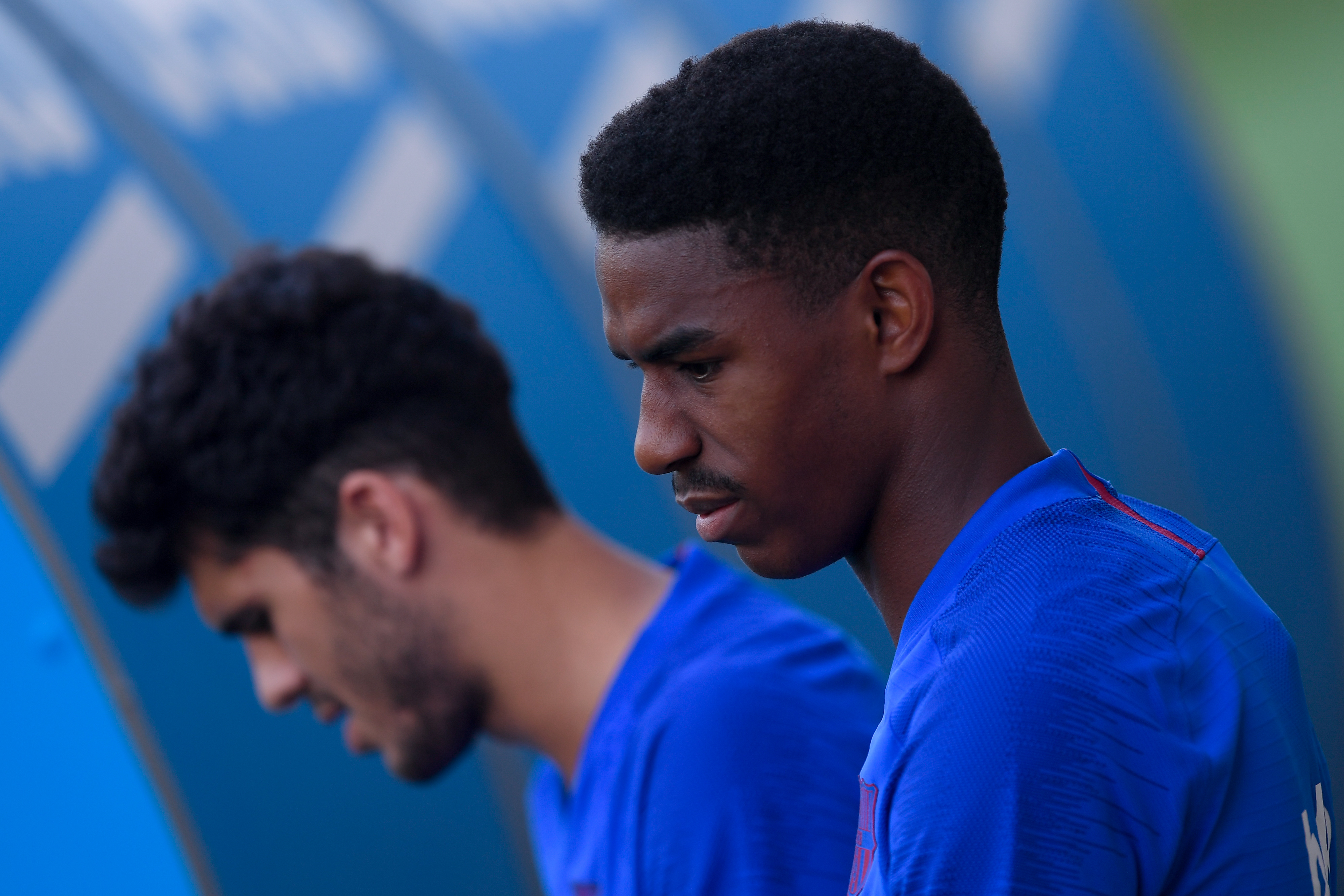 Firpo on his way out of Camp Nou? (Photo by Josep Lago/AFP/Getty Images)