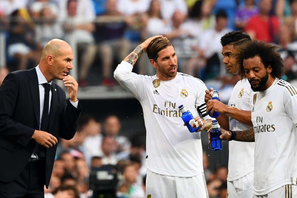 ZIdane will be without trusted lieutenants Ramos and Marcelo (Photo by GABRIEL BOUYS/AFP/Getty Images)