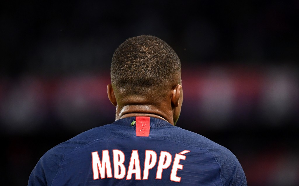 Paris Saint-Germain's French forward Kylian Mbappe stands during the French L1 football match between Paris Saint-Germain (PSG) and Toulouse (TFC) at the Parc des Princes stadium in Paris, on August 25, 2019. (Photo by FRANCK FIFE / AFP) (Photo credit should read FRANCK FIFE/AFP/Getty Images)