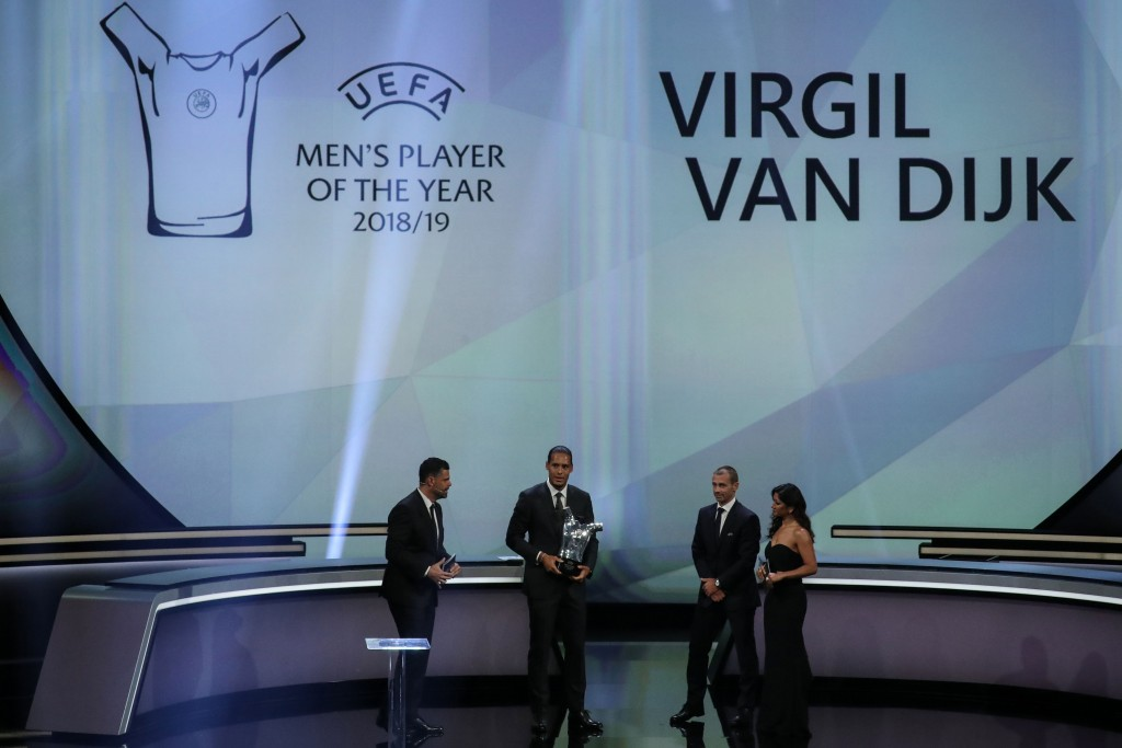 Another award for a world-class defender. (Picture Courtesy - AFP/Getty Images)