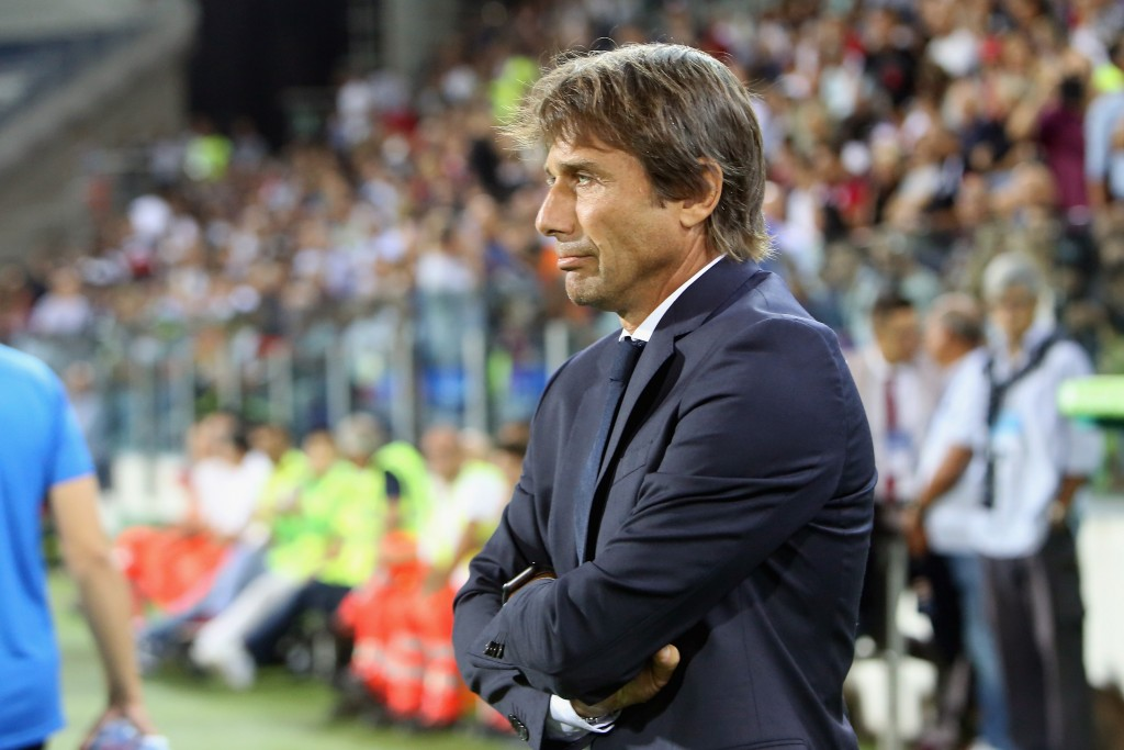 CAGLIARI, ITALY - SEPTEMBER 01: Antonio Conte coach of Cagliari looks on during the Serie A match between Cagliari Calcio and FC Internazionale at Sardegna Arena on September 1, 2019 in Cagliari, Italy. (Photo by Enrico Locci/Getty Images)