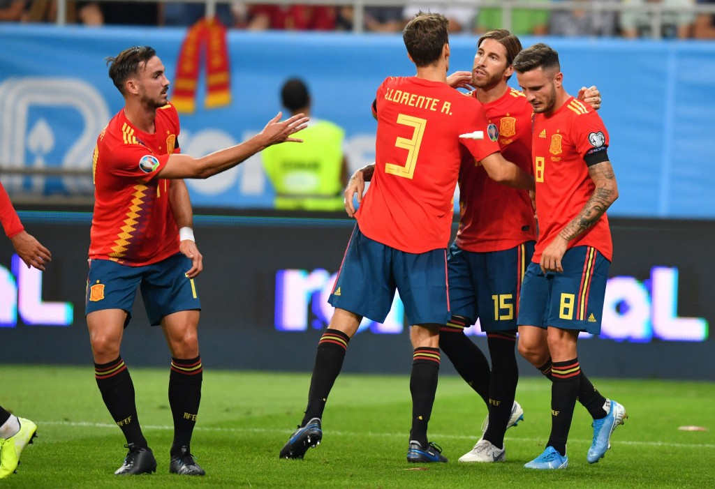 Spain fought off a spirited Romania to extend their perfect record in the UEFA Euro 2020 Qualifiers. (Photo by Daniel Mihailescu/AFP/Getty Images)