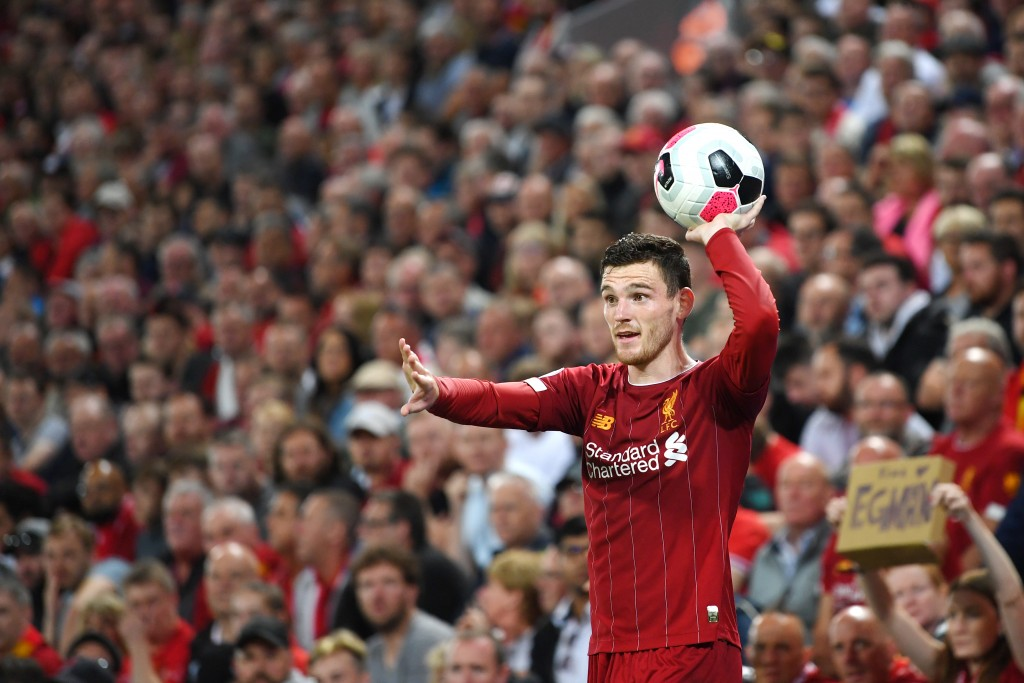 Robertson should be fit to start against Everton. (Photo by Michael Regan/Getty Images)