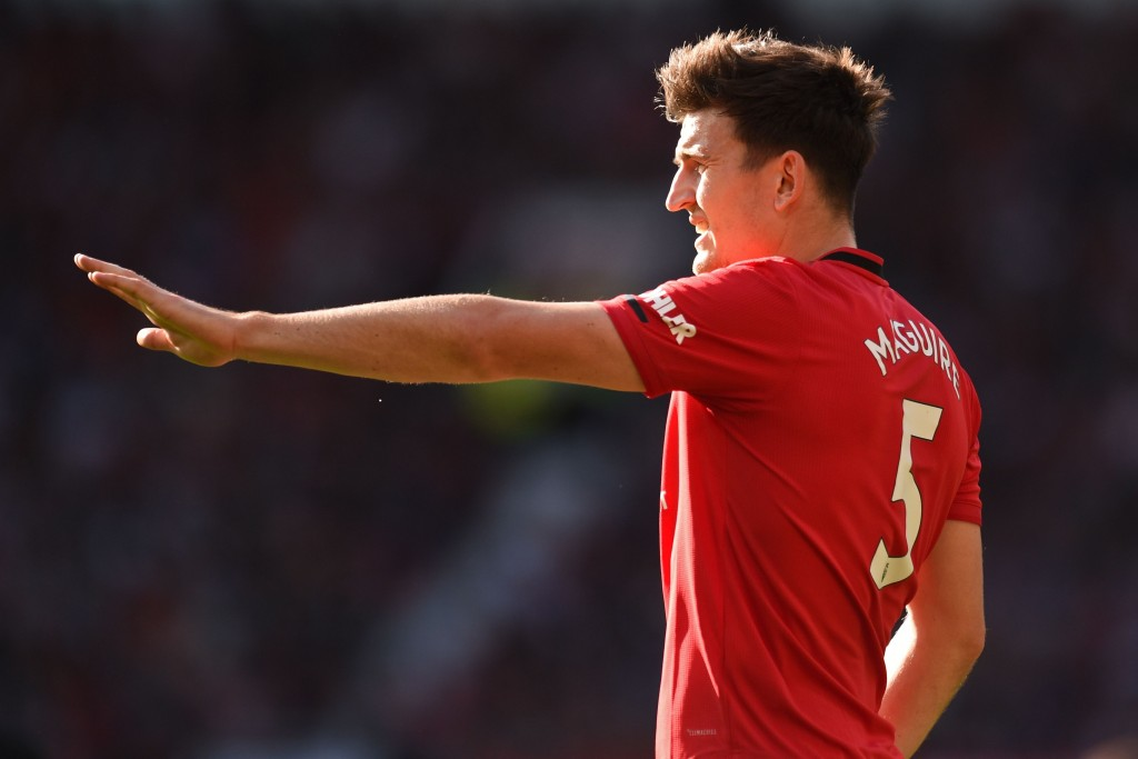 A solid display from Maguire against his former club (Photo by OlI Scarff/AFP/Getty Images)
