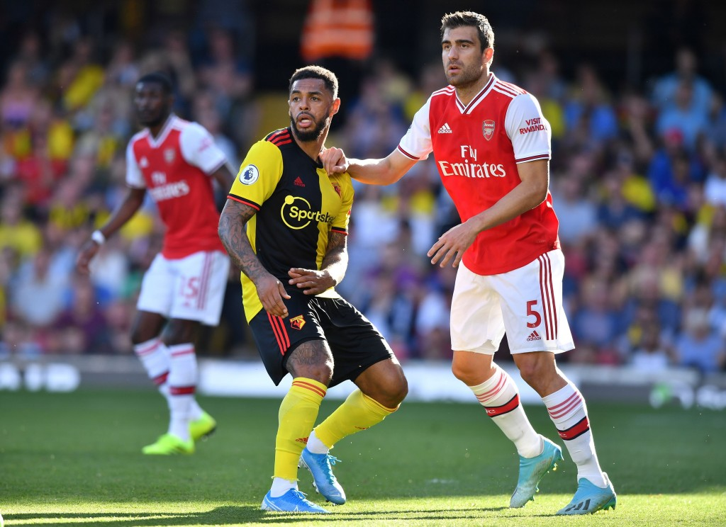 Worst ever performance from Sokratis in Arsenal colours? (Photo by Ben Stansall/AFP/Getty Images)