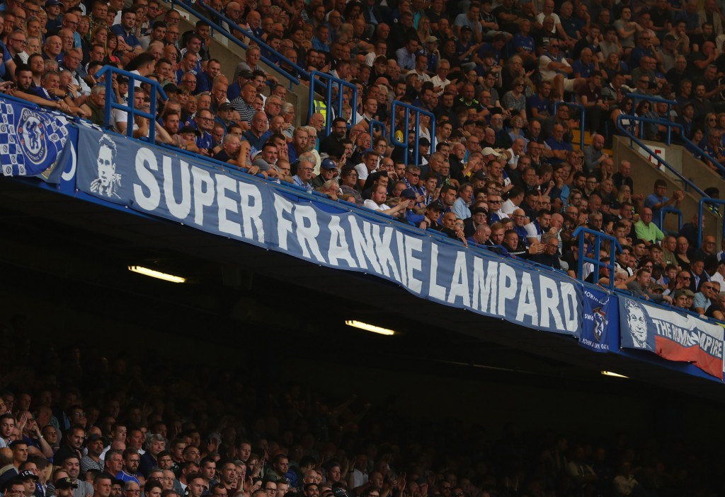 The fans are set to be behind Frank Lampard, hoping for the experiment to be successful. (Picture Courtesy - AFP/Getty Images)