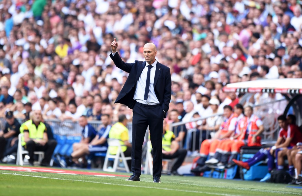 Zinedine Zidane will be aiming to rally his men following back-to-back draws. (Photo by Denis Doyle/Getty Images)