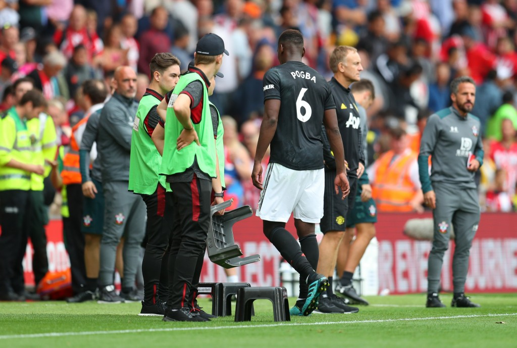 Pogba out with an ankle injury (Photo by Catherine Ivill/Getty Images)