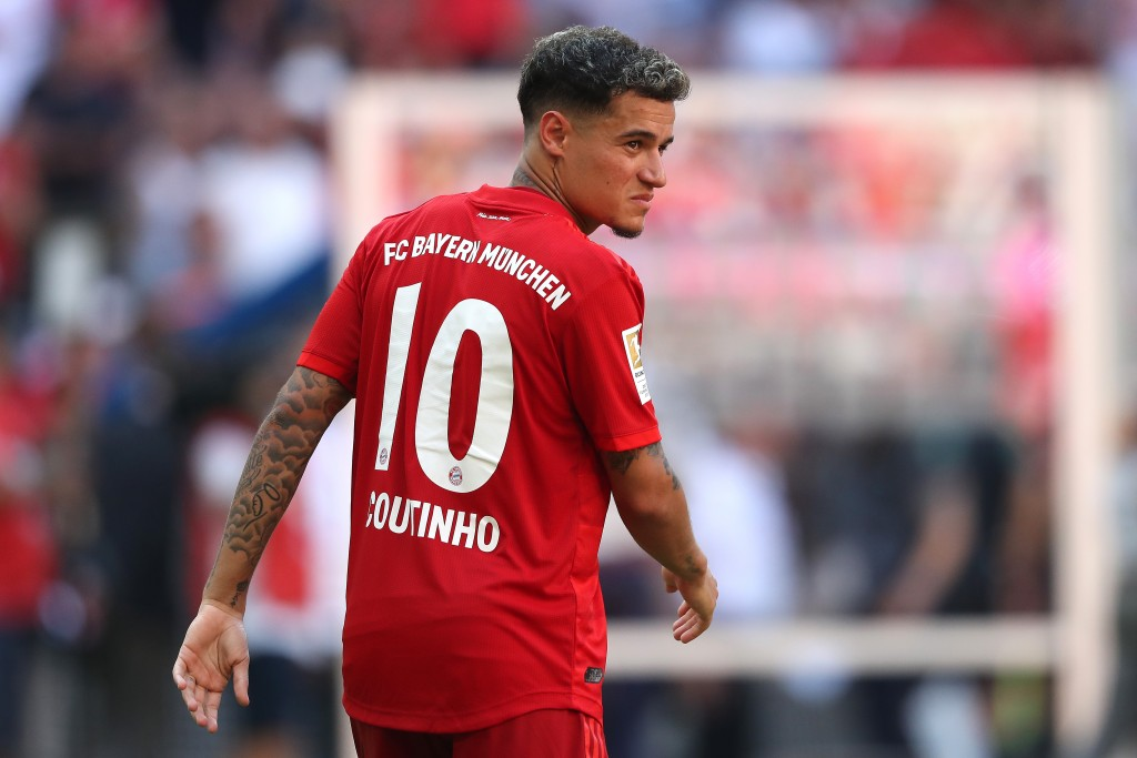 MUNICH, GERMANY - AUGUST 31: Philippe Coutinho of FC Bayern Muenchen looks on after the Bundesliga match between FC Bayern Muenchen and 1. FSV Mainz 05 at Allianz Arena on August 31, 2019 in Munich, Germany. (Photo by Alexander Hassenstein/Bongarts/Getty Images)