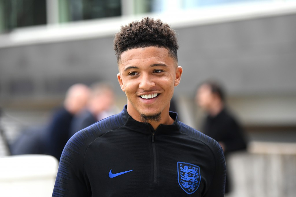 Manchester United or Liverpool? What will it be for Jadon Sancho? (Photo by Michael Regan/Getty Images)