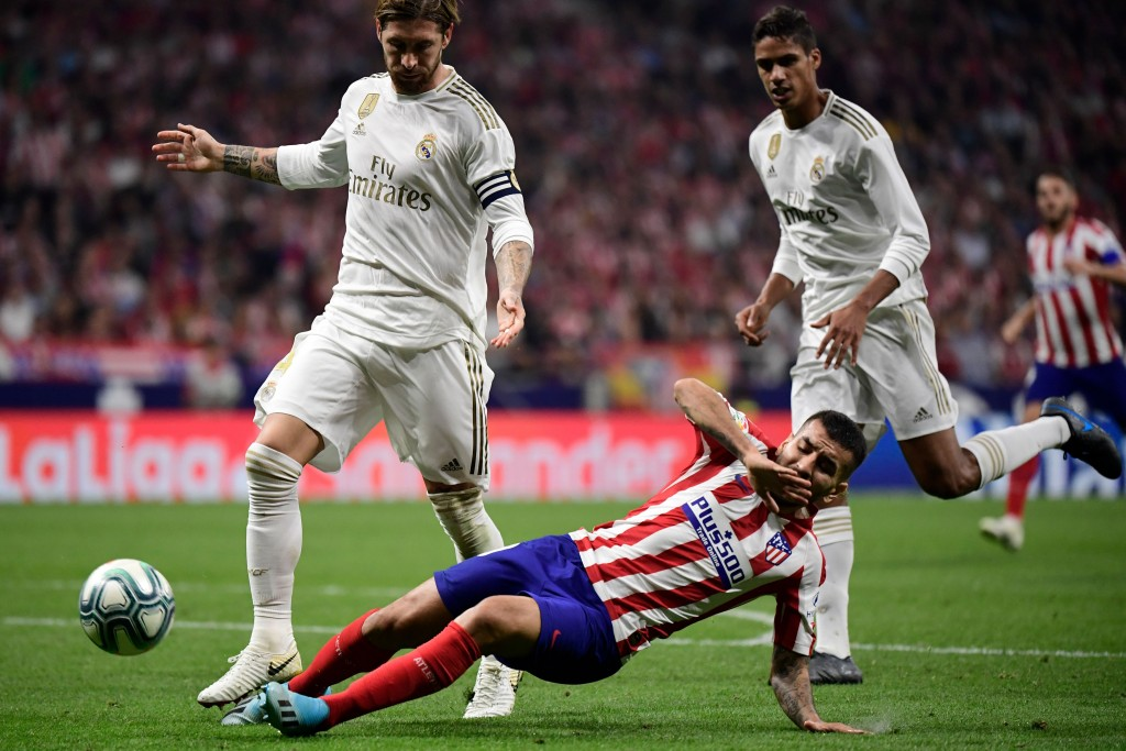 Ramos and Varane were solid against Atletico (Photo by JAVIER SORIANO/AFP/Getty Images)
