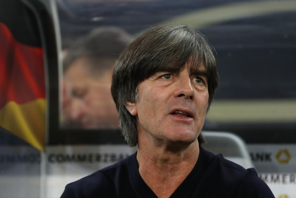 HAMBURG, GERMANY - SEPTEMBER 06: Joachim Loew, head coach of Germany looks on prior to the UEFA Euro 2020 qualifier match between Germany and Netherlands at Volksparkstadion on September 06, 2019 in Hamburg, Germany. (Photo by Alexander Hassenstein/Bongarts/Getty Images)