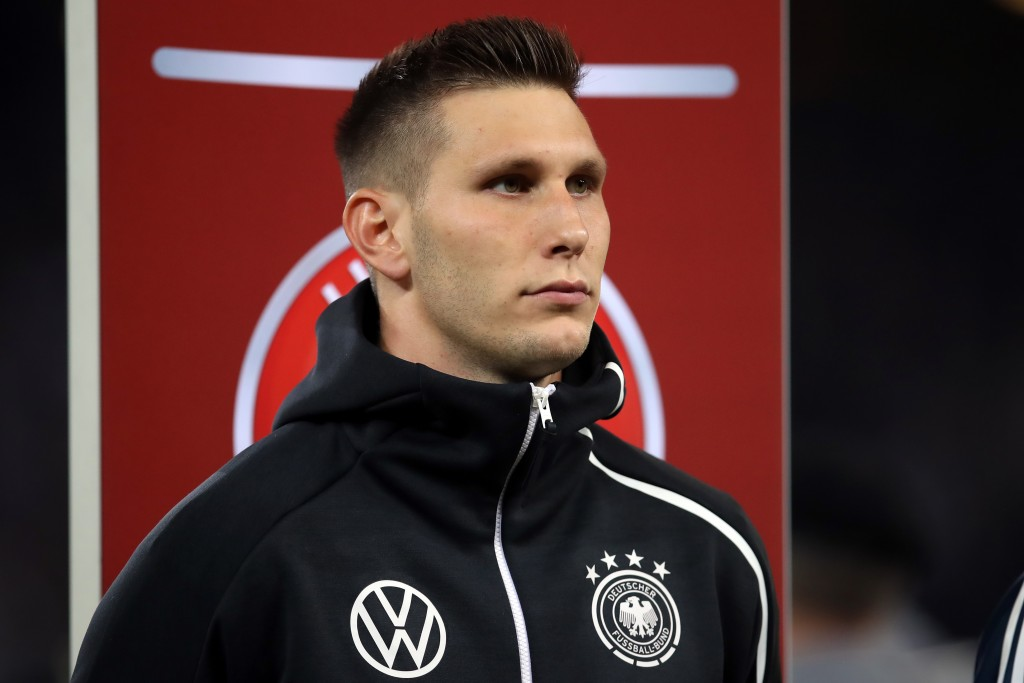 HAMBURG, GERMANY - SEPTEMBER 06: Niklas Suele of Germany looks on prior to the UEFA Euro 2020 qualifier match between Germany and Netherlands at Volksparkstadion on September 06, 2019 in Hamburg, Germany. (Photo by Alex Grimm/Bongarts/Getty Images)