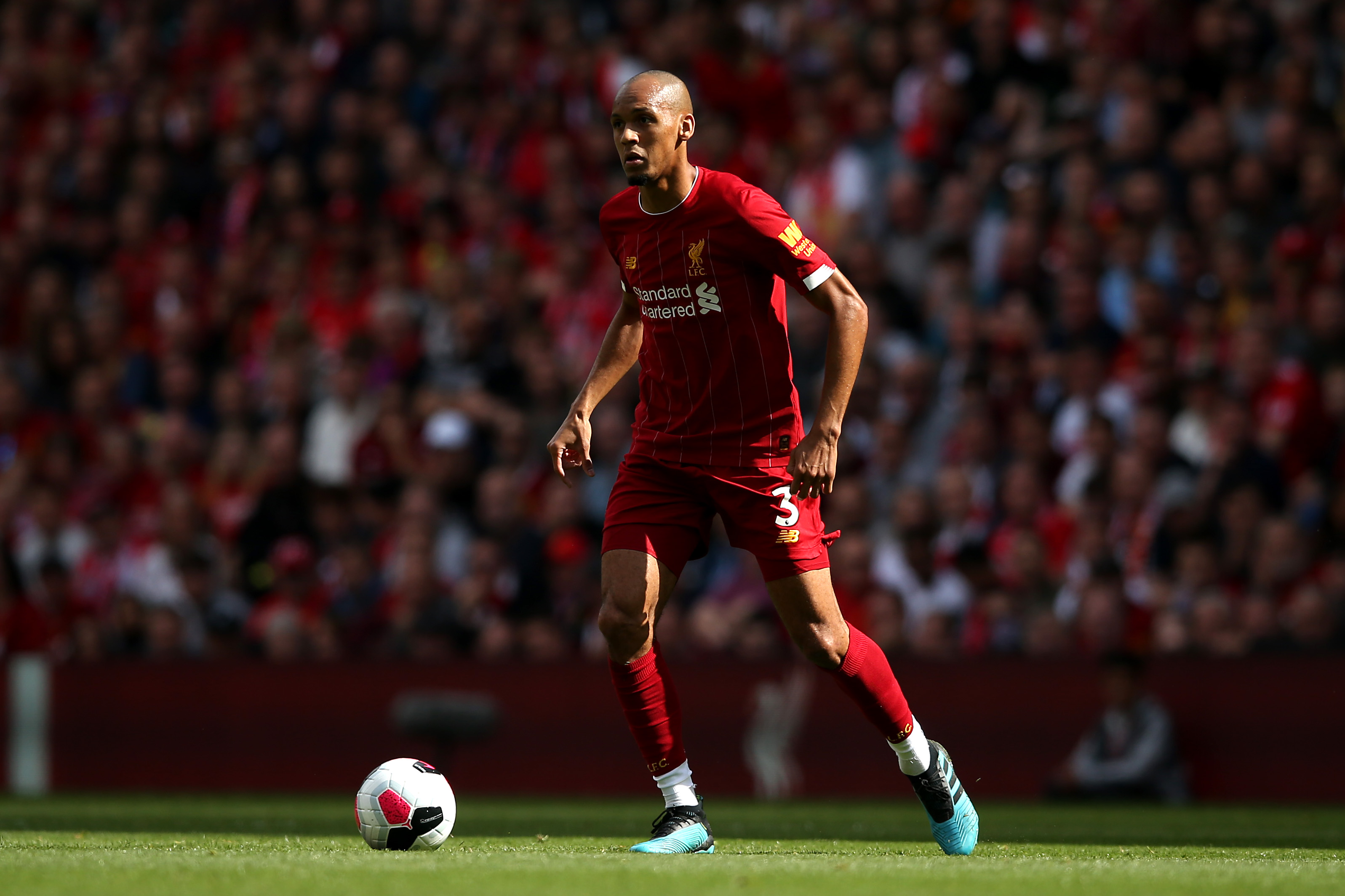 Fabinho not concerned by rivals' transfer activity (Photo by Jan Kruger/Getty Images)