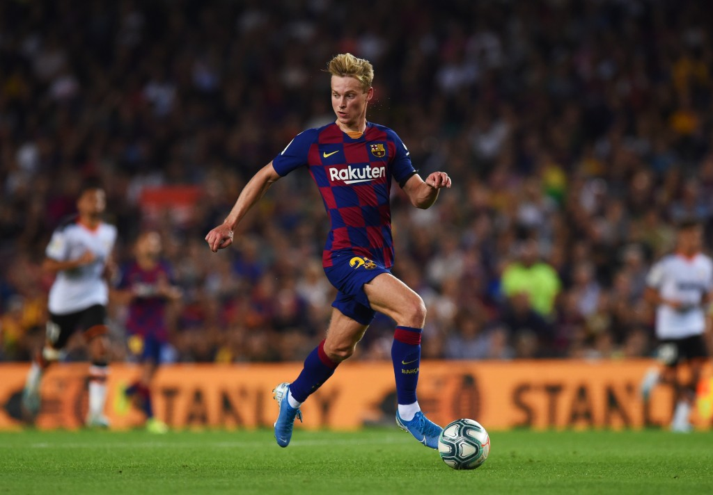 de Jong scored his first goal for Barcelona (Photo by Alex Caparros/Getty Images)