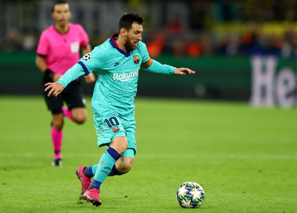 Messi made his first appearance of the season (Photo by Martin Rose/Bongarts/Getty Images)