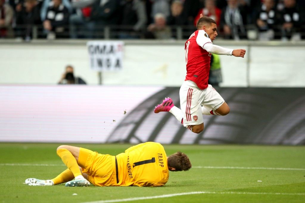 Torreira was solid against Frankfurt. (Photo by Christian Kaspar-Bartke/Bongarts/Getty Images)