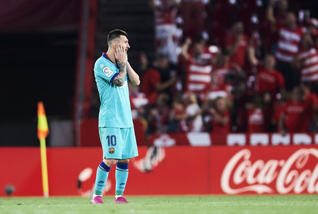 Messi had Barcelona's only shot on target. (Photo by Aitor Alcalde/Getty Images)