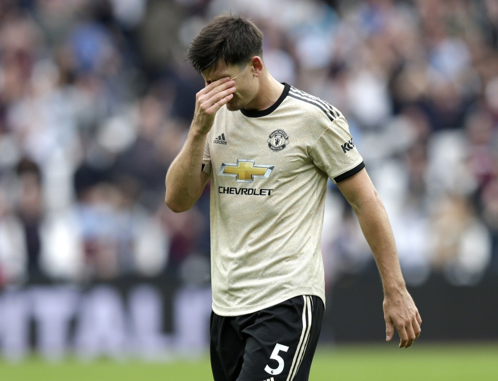 Maguire struggled (Photo by Henry Browne/Getty Images)