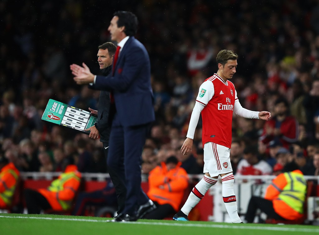 Emery's treatment of Ozil has been appalling. (Photo by Julian Finney/Getty Images)
