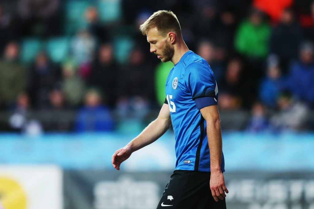 The Estonia captain will need to play out of his skin to deny Netherlands. (Photo by Joosep Martinson/Getty Images)