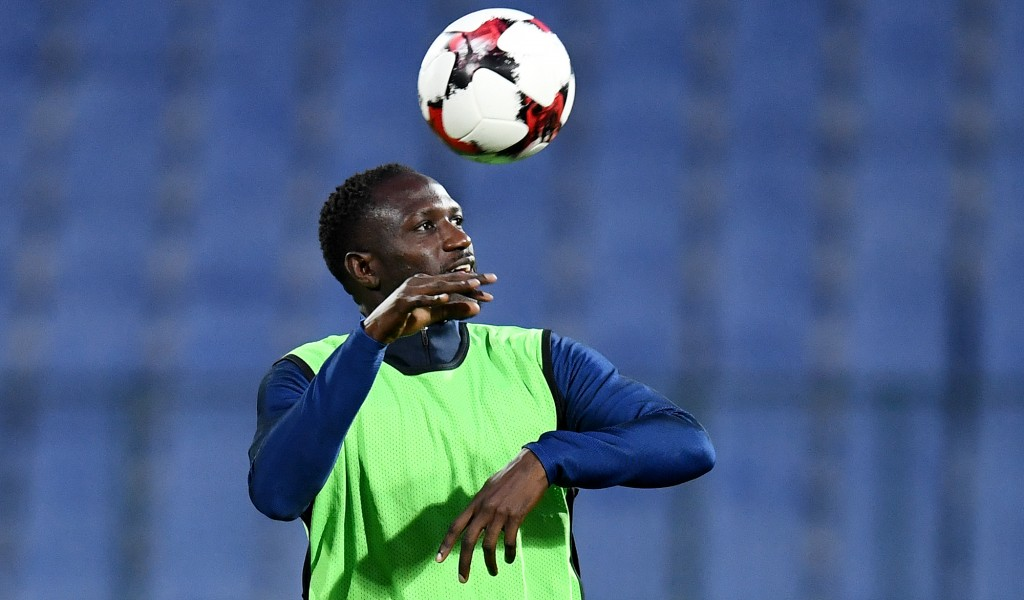 France's midfielder Moussa Sissoko heads the ball during a training session at the Vasil Levski stadium in Sofia on October 6, 2017, on the eve of the FIFA World Cup 2018 qualifying football match against Bulgaria. / AFP PHOTO / FRANCK FIFE (Photo credit should read FRANCK FIFE/AFP/Getty Images)